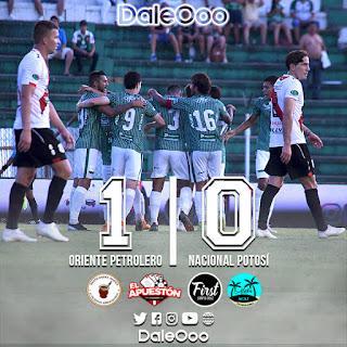 Oriente Petrolero 1 - Nacional Potosí 0 - DaleOoo
