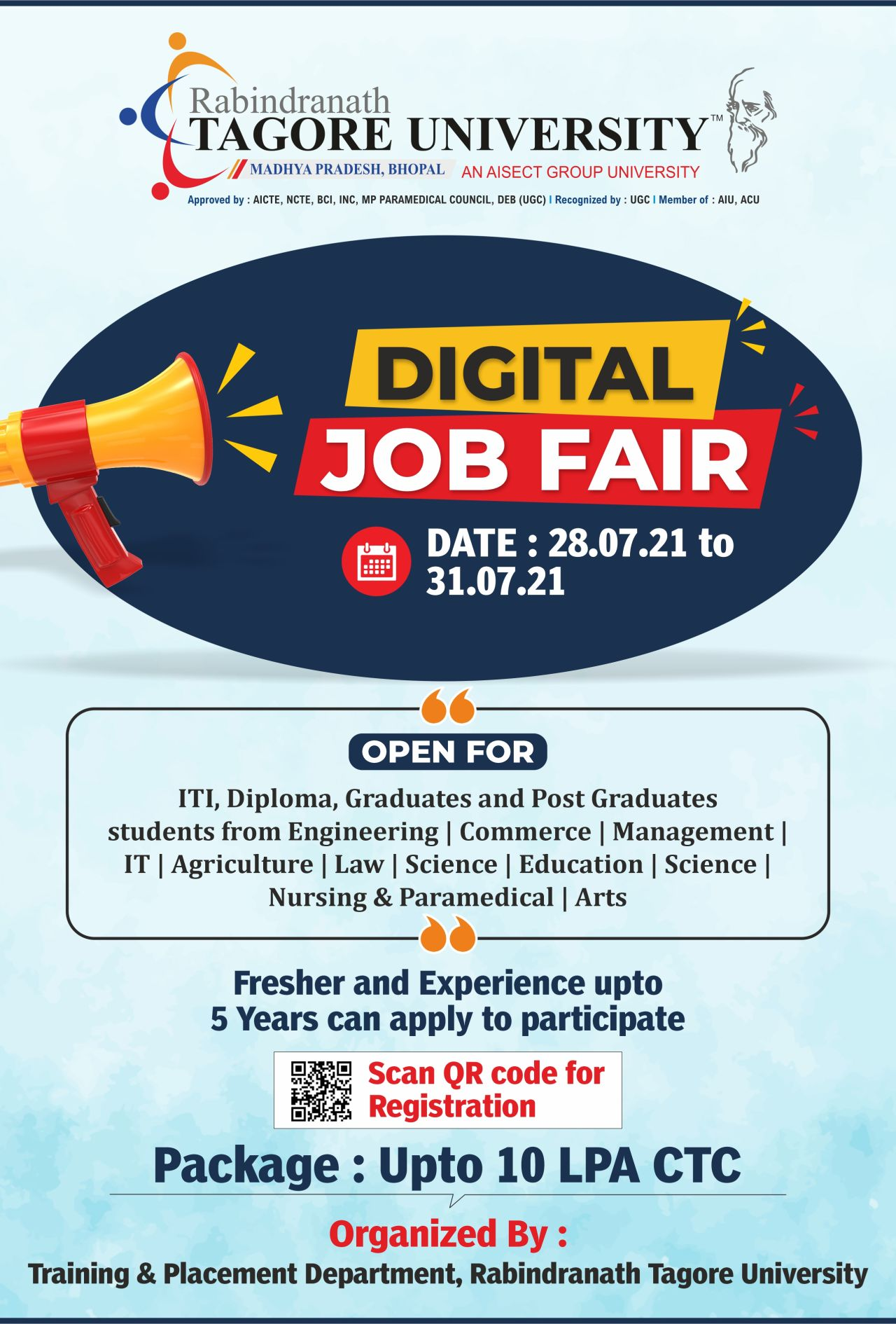 ITI, Diploma, Graduates and Post Graduates Online Jobs Fair 2021 on 28th July 2021 to 31h July 2021 | Registration Now