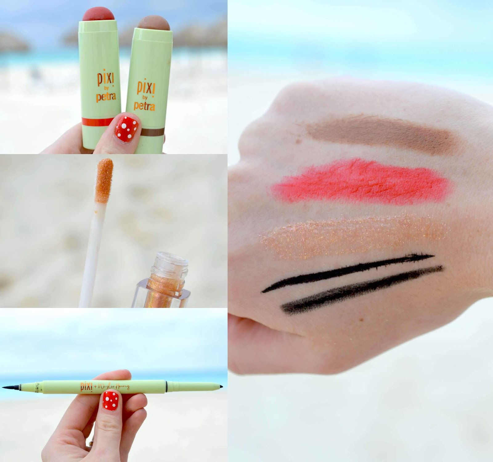Pixi Makeup Swatches