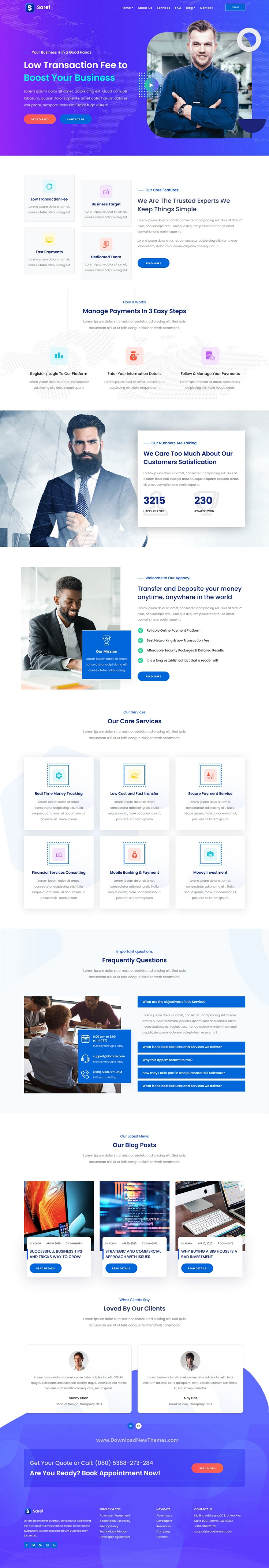 Online Banking & Payment Service Template