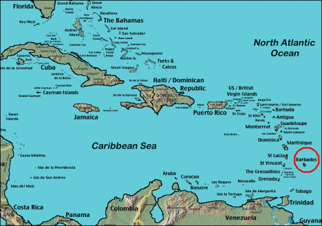 Where Is Barbados Located On The World Map
