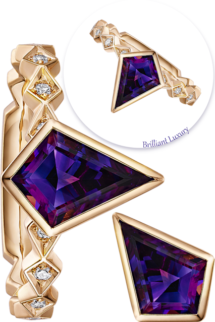 Andrew Geoghegan Let's Go Fly a Kite 1ct amethyst diamond ring #brilliantluxury