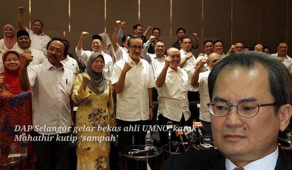 DAP Selangor gelar bekas ahli UMNO 'katak', kutip 'sampah' mahu PM tunai janji