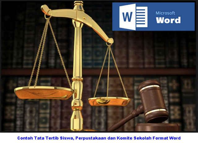 Contoh Tata Tertib Siswa, Perpustakaan dan Komite Sekolah Format Word