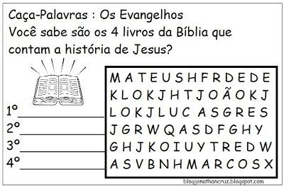 Image result for caça palavra evangelico para crianças
