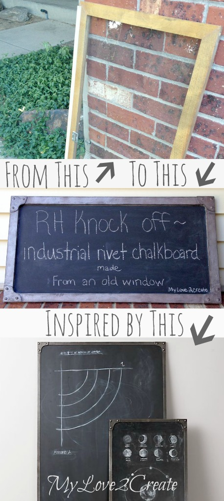 MyLove2Create, Restoration Hardware Industrial Rivet Chalkboard Knock Off