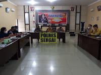 Polres Sergai Rapat Koordinasi Penanganan Covid-19
