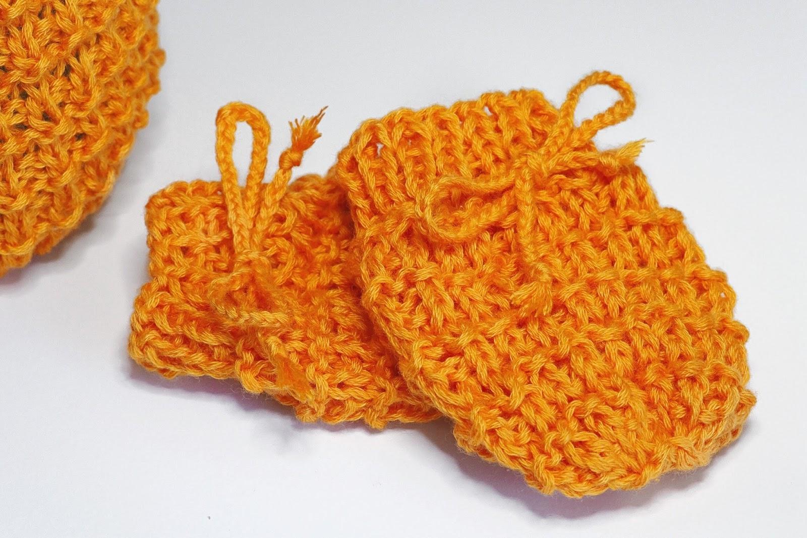Handschuhe für Babies gestrickt für Anfänger geeignete Anleitung