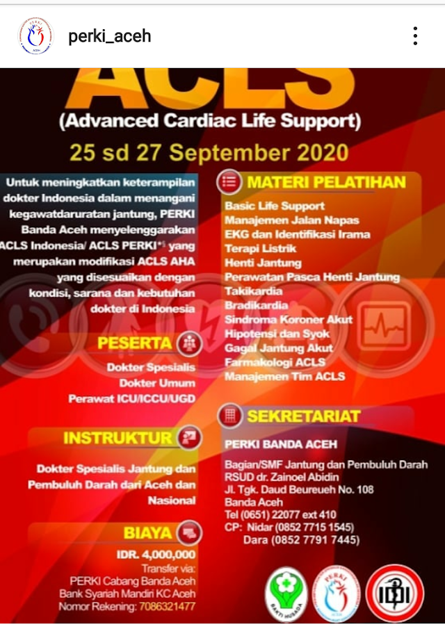 ACLS PERKI ACEH 2020 (25, 26, 27 September 2020)