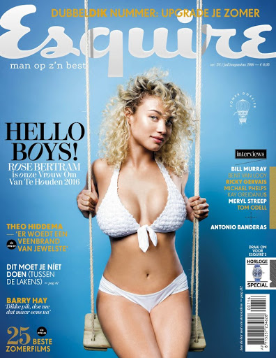 Rose Bertram hot models photo shoo for Esquire Netherlands Magazine