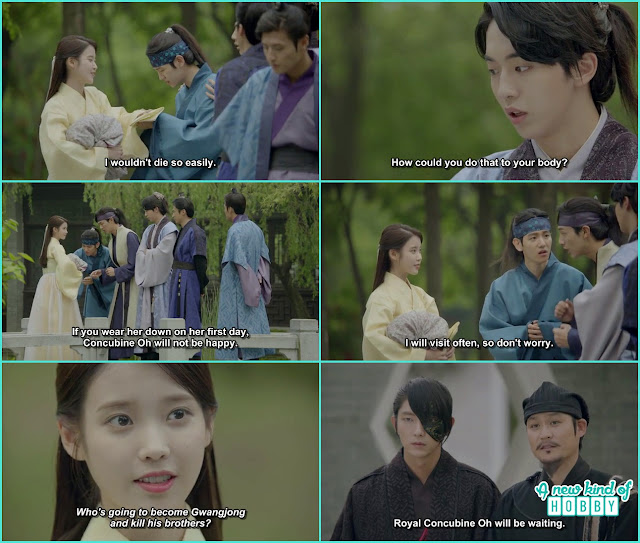 all prince gathered to see hae soo off and promise they will come by often at damiwon  - Moon Lovers Scarlet Heart Ryeo - Episode 6 Review