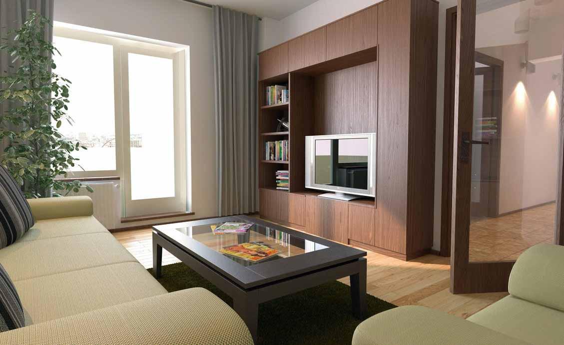 Desain interior ruang tamu tipe 36