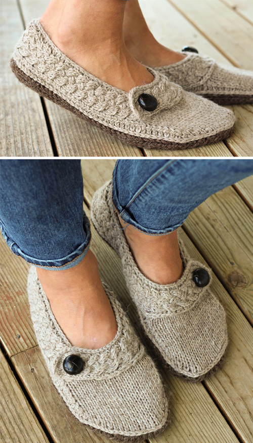 Fabulous Flats Slippers - Knitting Pattern