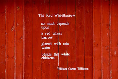 "yes, the red barn holds ""The Red Wheelbarrow"""