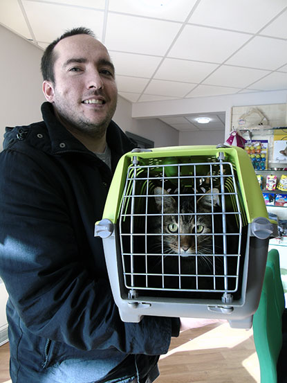 Tommy being collected by his owner