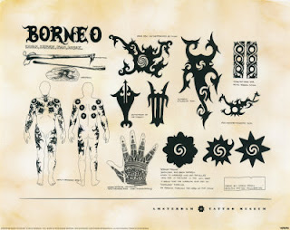 Indonesian Traditional Tattoo, Borneo
