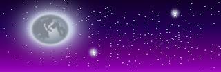 ilustracion videojuego cielo nocturno con estrellas y luna