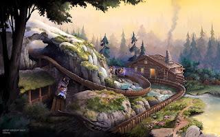 Wandering Oaken's Sliding Sleighs Concept Art Hong Kong Disneyland