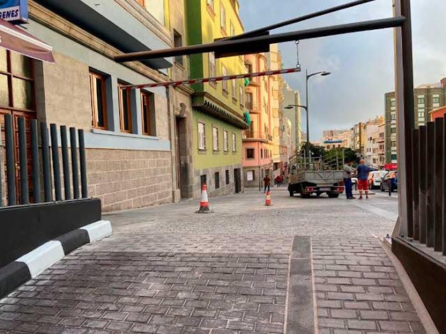 Las nuevas obras en el nuevo aparcamiento de San Bernardo, Las Palmas de Gran Canaria denuncia pp