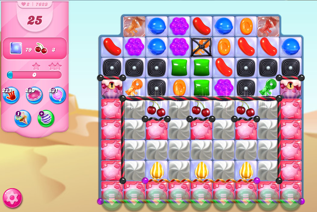Candy Crush Saga level 7623