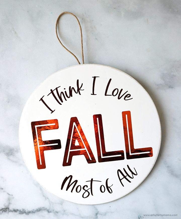 """""""I Love Fall Most of All"""" Wreath"""