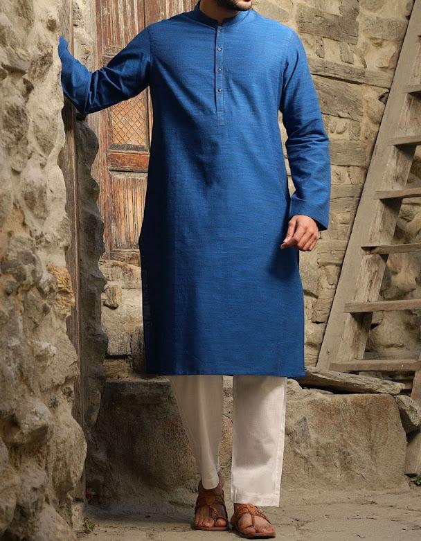 J. juanid jamshed winter collection blue kurta