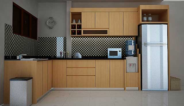 kitchen set minimalis bentuk L