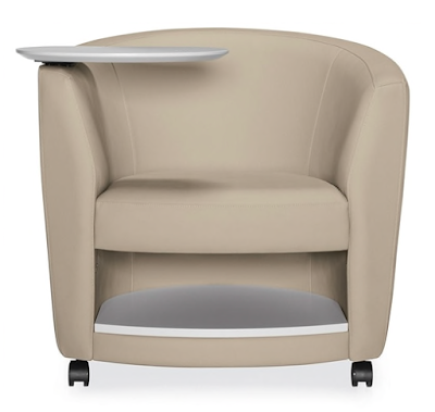 tablet arm lounge chair