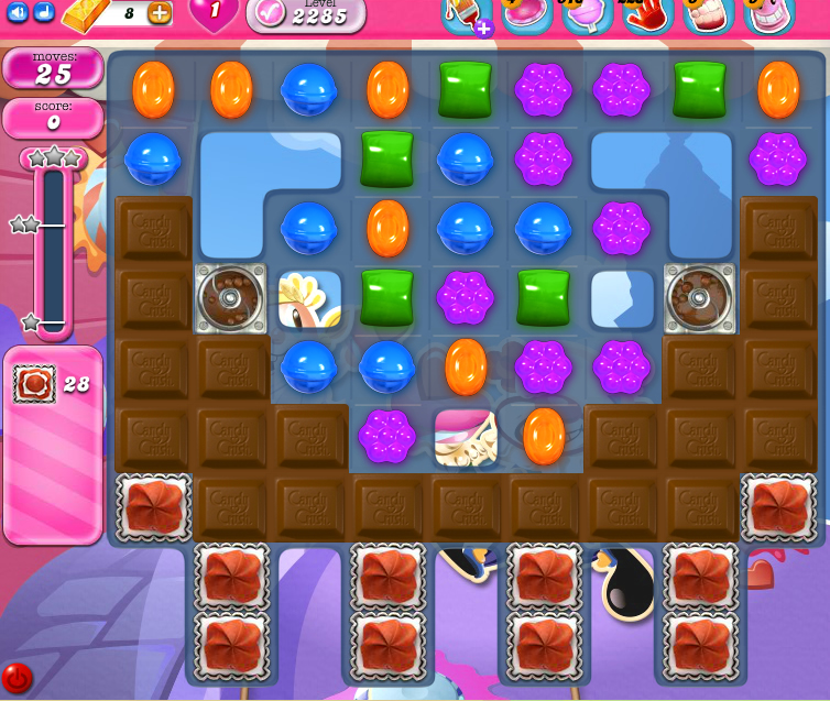 Candy Crush Saga level level 2285