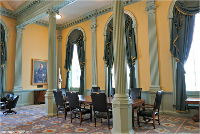 Senate Reception Room en el Massachusetts State House