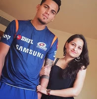 rahul chahar with her sister