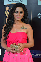 Sraddha in Sleeveless Off Shoulder Pink Dress at IIFA Utsavam Awards March 2017 021.JPG