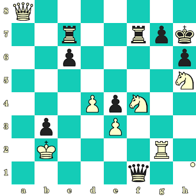 Les Blancs jouent et matent en 2 coups - Tigran Petrossian vs Dragoslav Tomic, Vinkovci, 1970