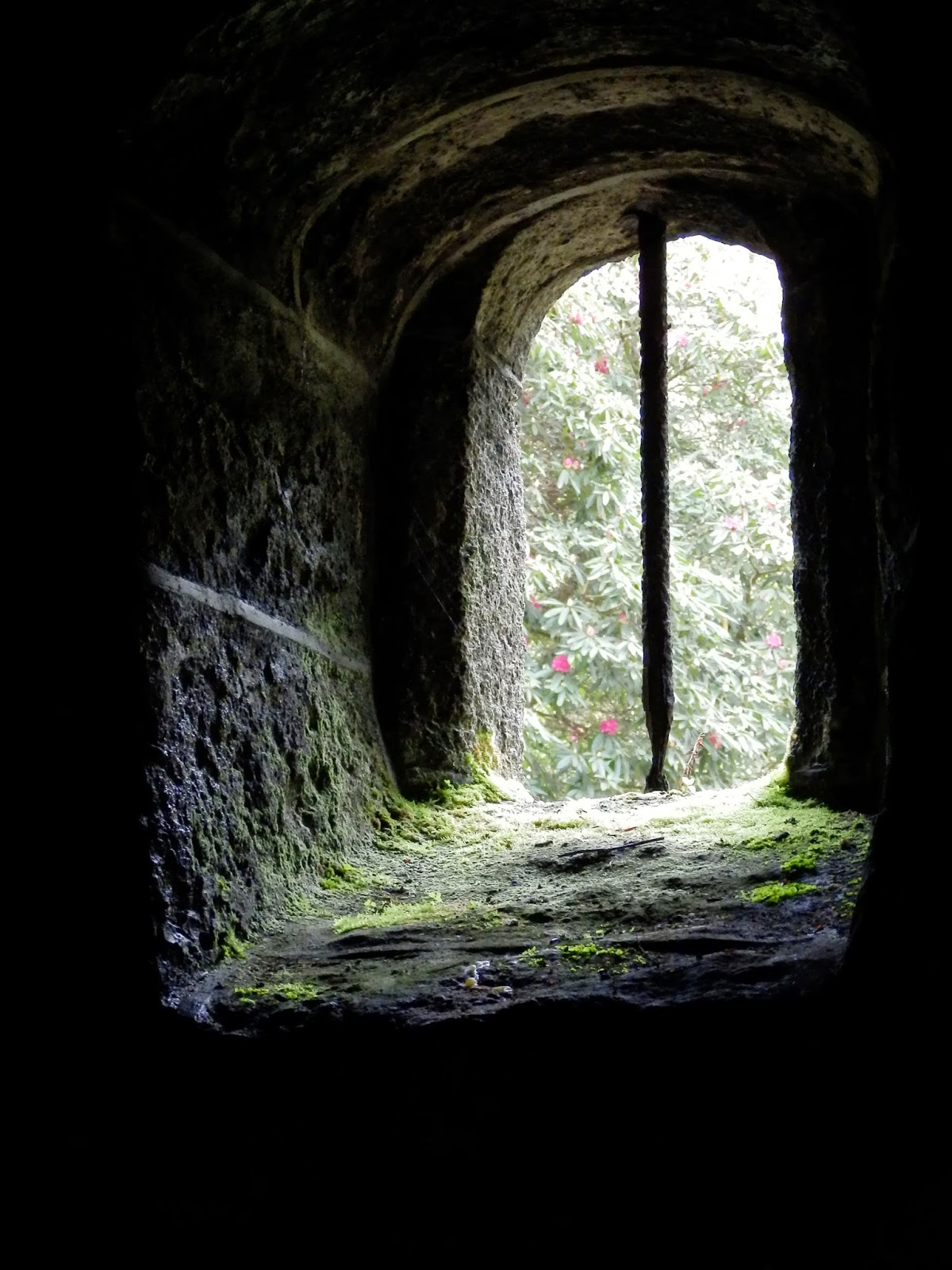 Window in the Holy Well Chapel, Menacuddle