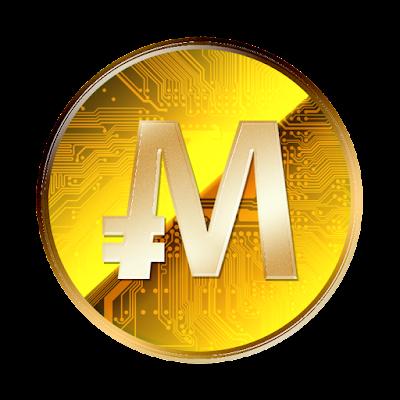 MonaCoin裏面のフリー素材(金貨ver)