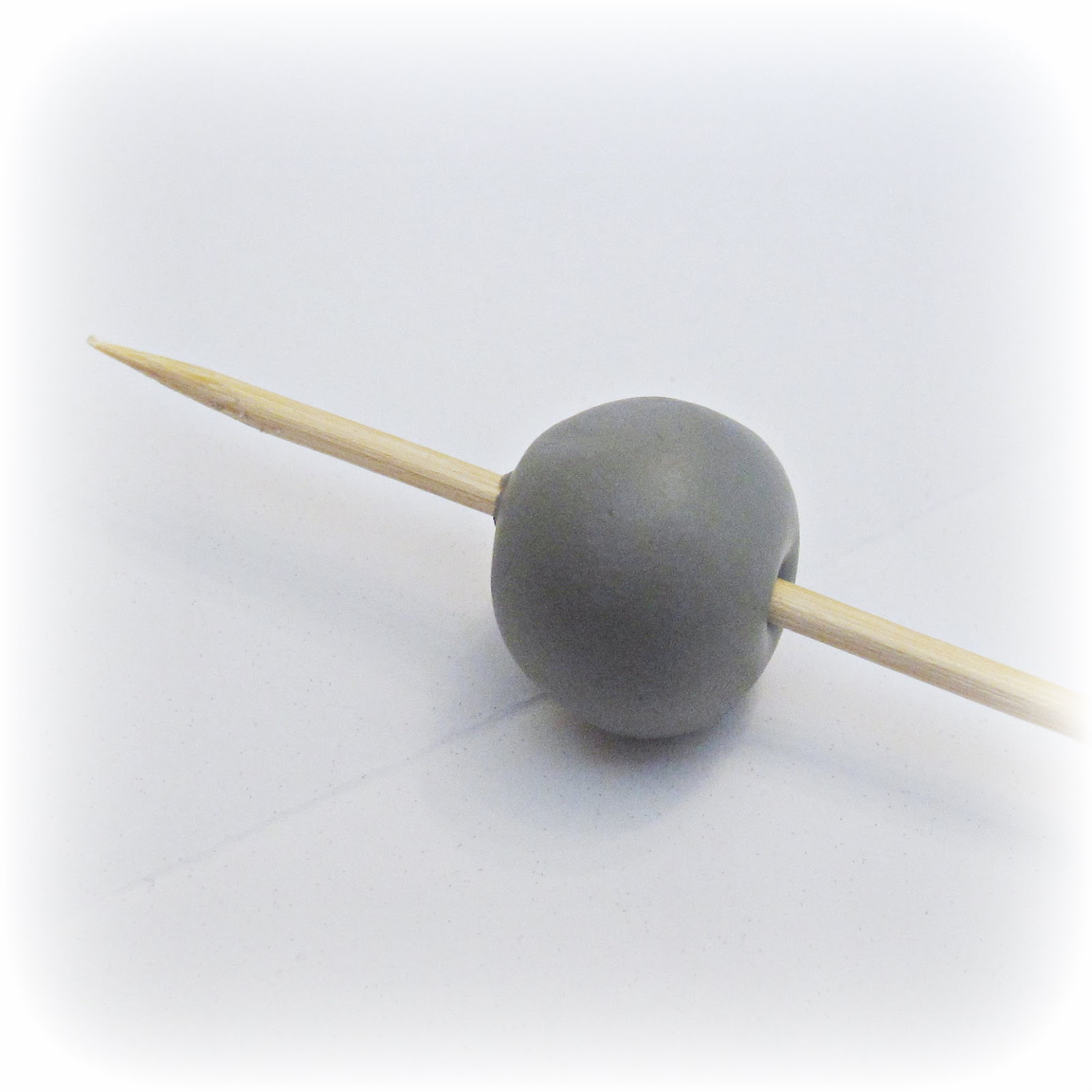 image diy gumball necklace sculpey polymer clay use a skewer to make a hole in your bead