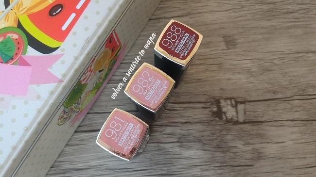 Labiales colorsensational de Maybelline de acabado mate y tonos nudes y marrones