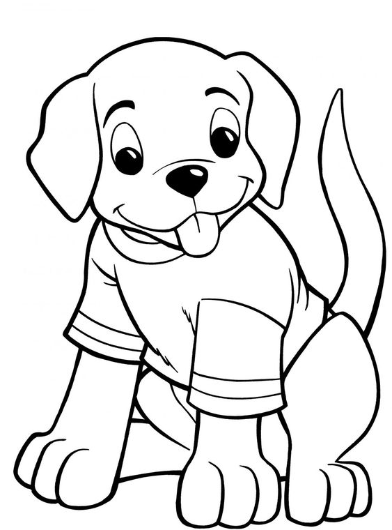 Dogs coloring pages 7