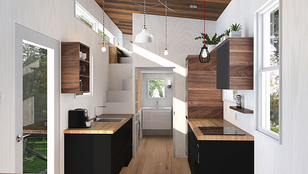 Tiny house town the atelier praxis tiny house by minimalist for Minimalist house quebec