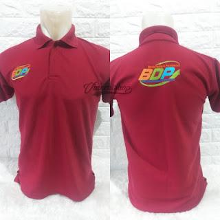 Kaos Polo Bordir Seragam Merah Maroon Lengan Pendek