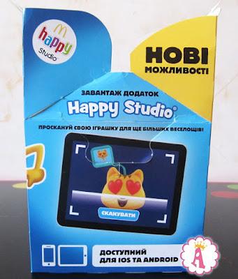 С помощью приложения Happy Studio можно просканировать игрушку Emoji Happy Meal 2017