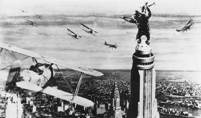 King Kong on top of the Empire State Building