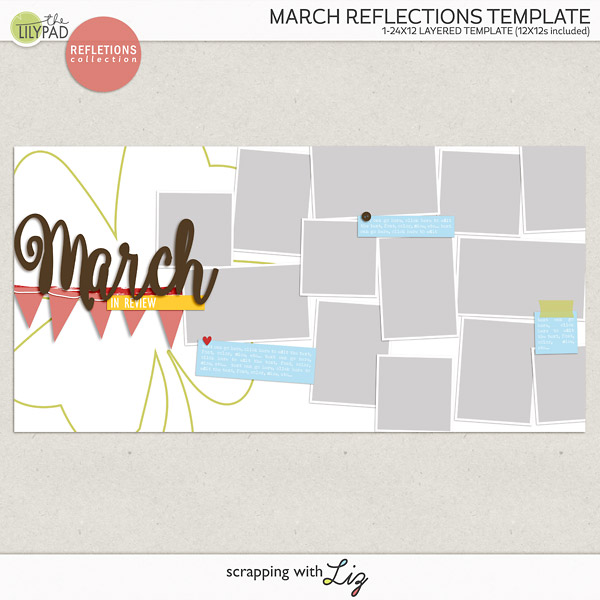 Digital Scrapbook Reflections Template