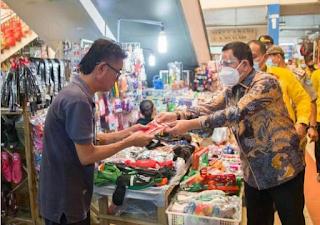 Pjs Bupati Labuhanbatu Sidak Protokol Kesehatan di Pusat Pasar