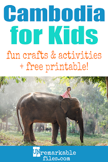 Learning about Cambodia is fun and hands-on with these free crafts, ideas, and activities for kids! #Cambodia #angkor #khmer #educational