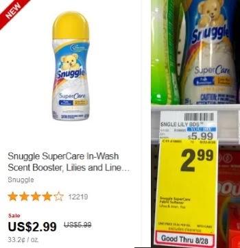 Snuggle SuperCare In-Wash Scent Booster