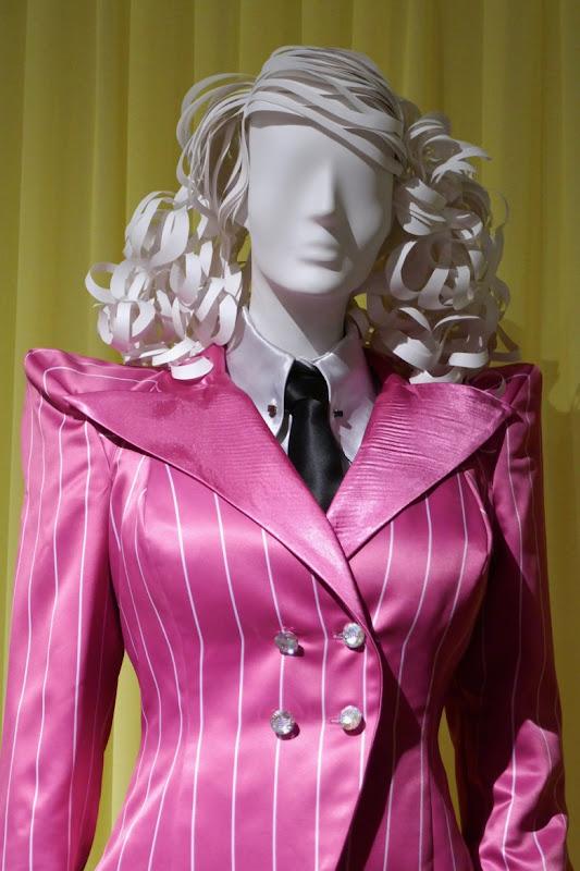 Esmé Squalor pink pinstripe suit Unfortunate Events