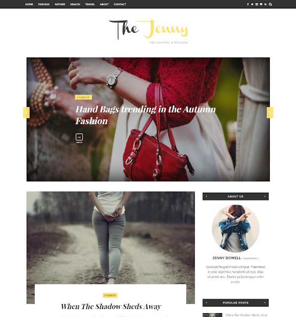Jenny - Personal Blogger Template