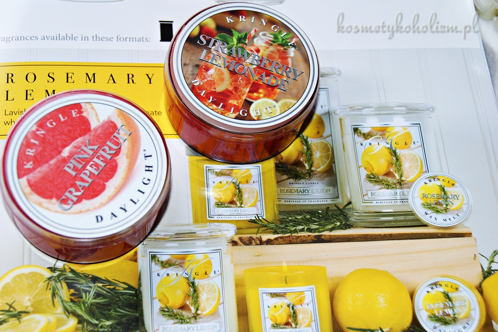 Kringle Candle | Strawberry Lemonade, Pink Grapefruit | Świecowa Niedziela