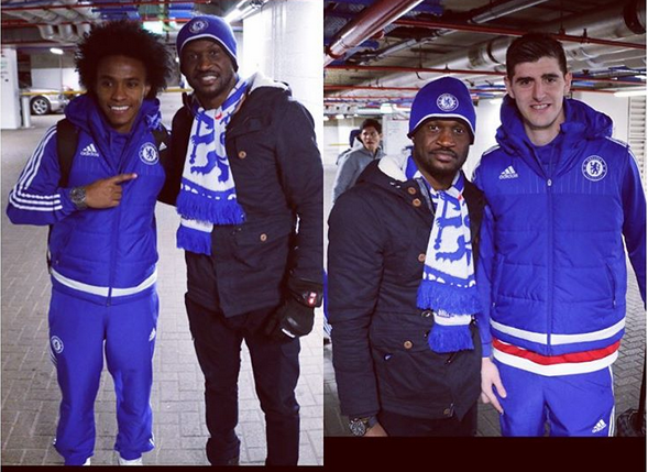 peter okoye of p square and chelsea football stars